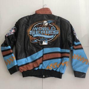 Jeff Hamilton 2003 World Series Marlins Yankees Jacket