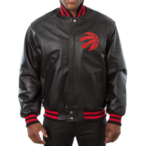 Jeff Hamilton Toronto Raptors Black Leather Jacket