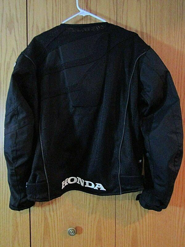 Joe Rocket Honda Motorcycle Racing Black Textile Jacket