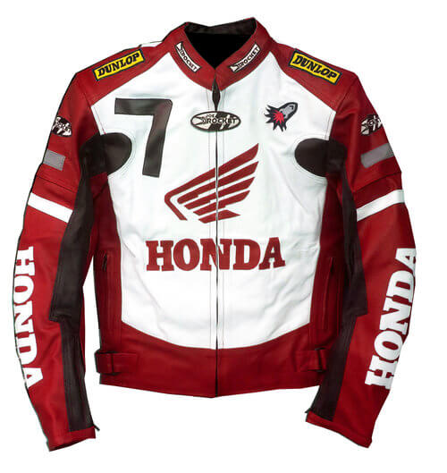 Joe Rocket Honda Motorcycle Racing Leather Jacket