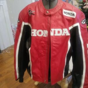 Joe Rocket Honda Motorcycle Red Racing Leather Jacket