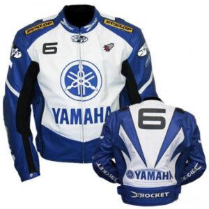 Joe Rocket Yamaha 6 Motorcycle Racing Leather Jacket