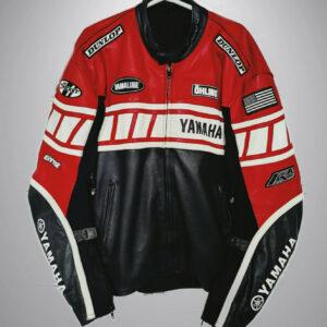Joe Rocket Yamaha Motorcycle Racing Leather Jacket