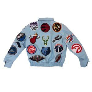 Light Blue NBA Teams Jeff Hamilton Leather Jacket