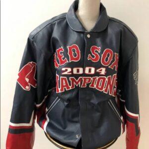 MLB Boston Red Sox 2004 World Series Leather Jacket