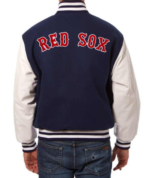 MLB Boston Red Sox Wool Leather Jacket