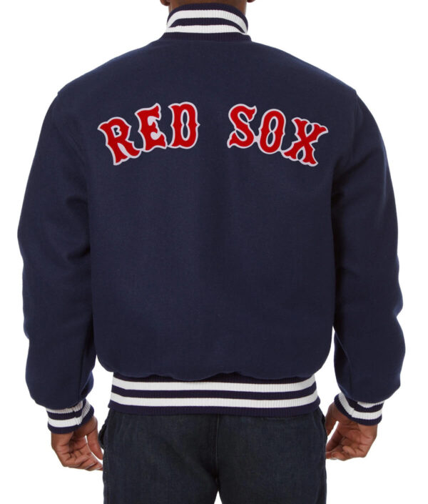 MLB Navy Blue Boston Red Sox Wool Jacket