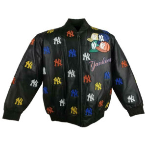 MLB New York Yankees Black Leather Jacket