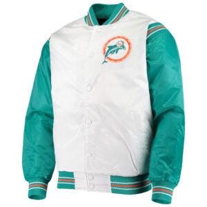 Miami Dolphins Historic Logo Renegade Satin Jacket