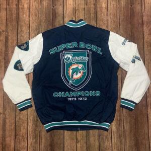 Miami Dolphins Super Bowl Champions Varsity Jacket