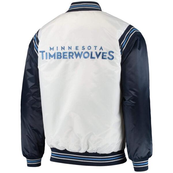 Minnesota Timberwolves NBA Full Snap Satin Jacket