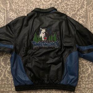 Minnesota Timberwolves NBA Leather Full Zip Jacket