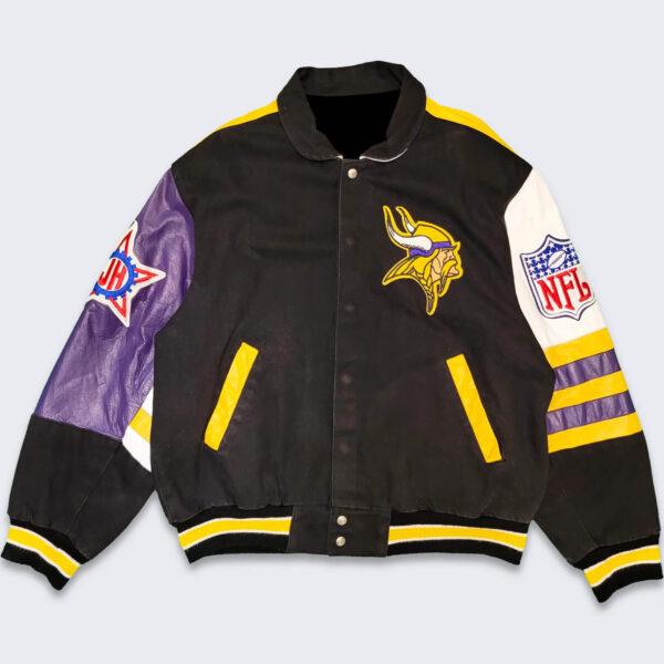 Minnesota Vikings Vintage Jeff Hamilton Varsity Jacket