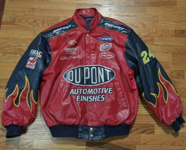 NASCAR Jeff Gordon 24 DuPont Racing Leather Jacket