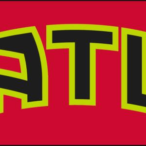 NBA Atlanta Hawks Red Alternate Logo Patch