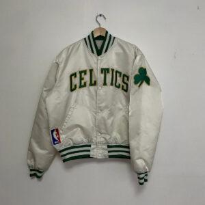 NBA Boston Celtics White Satin Jacket