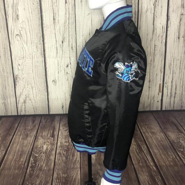 NBA Charlotte Hornets Black Satin Jacket