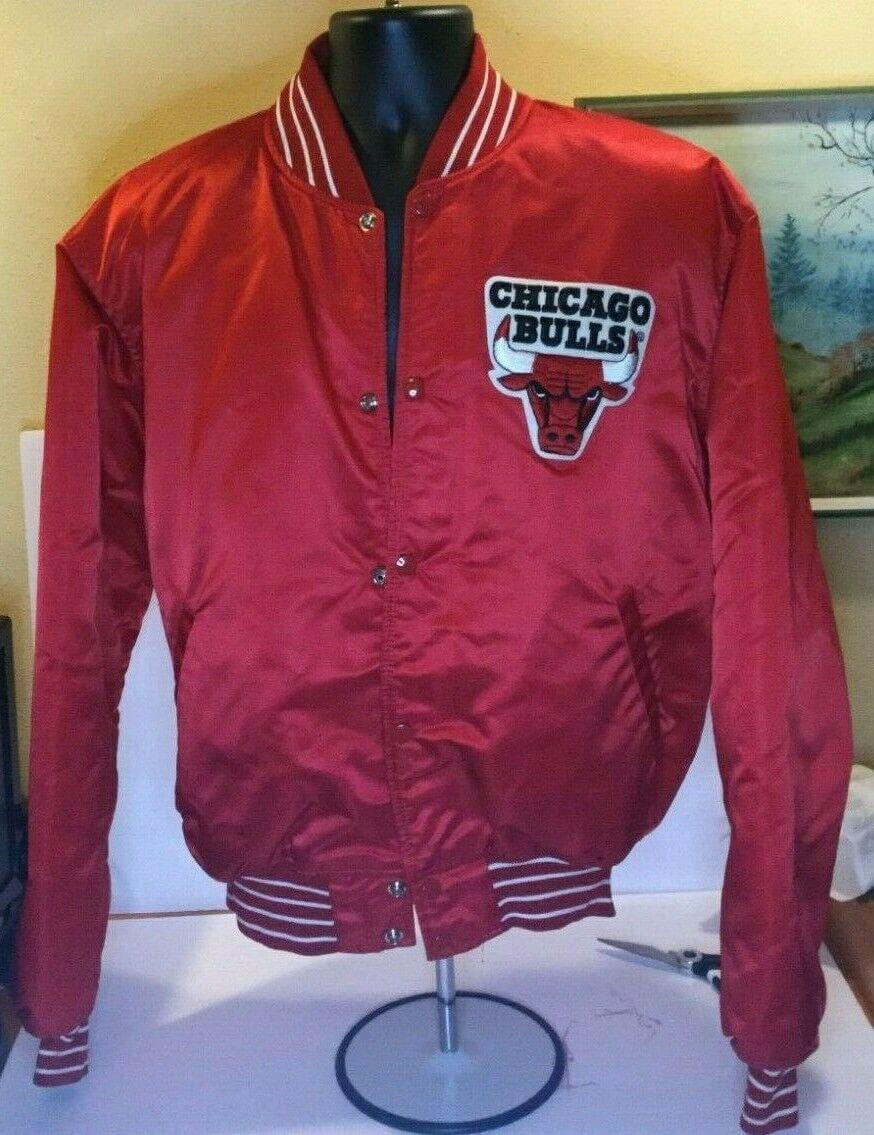 NBA Chicago Bulls Throwback Satin Red Jacket