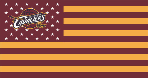 NBA Cleveland Cavaliers Flags Patch