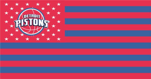 NBA Detroit Pistons Flag Patch