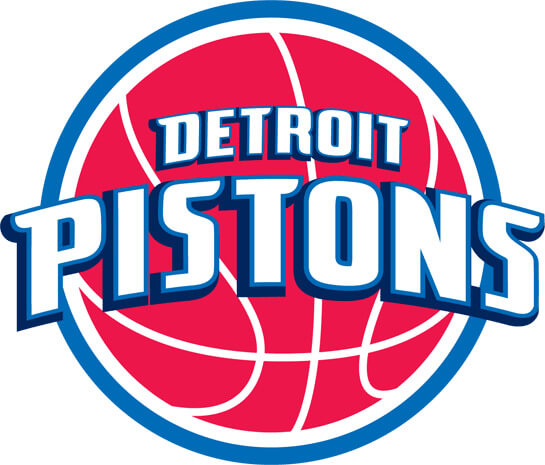 NBA Detroit Pistons Primary Team Logo Patch