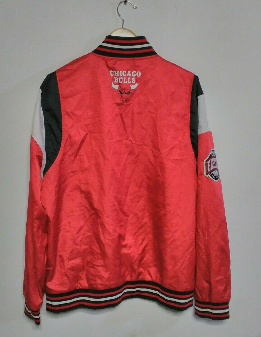NBA Eastern Chicago Bulls Satin Red Jacket