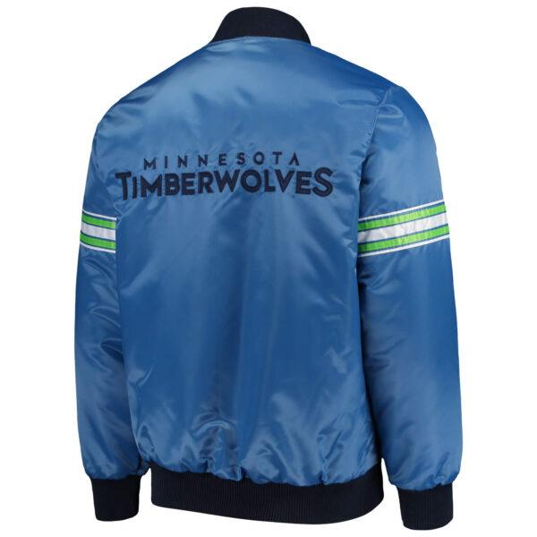 NBA Minnesota Timberwolves Full Snap Satin Jacket