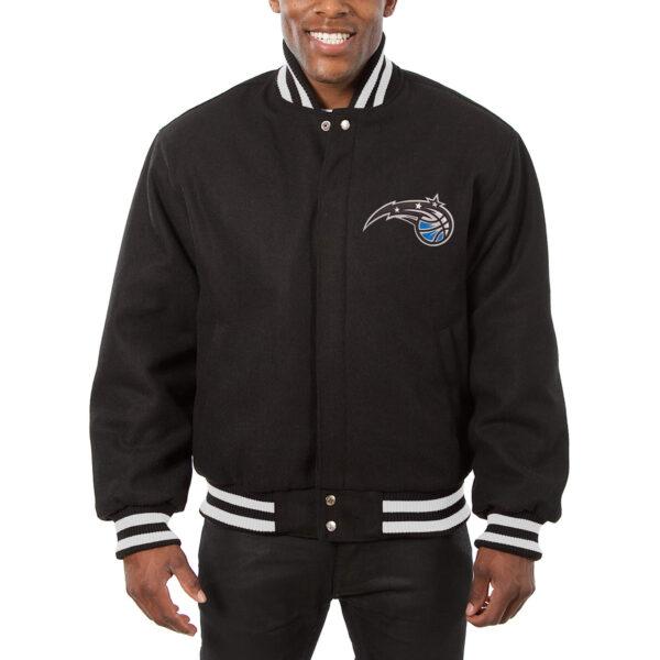 NBA Orlando Magic Black Full Snap Wool Jacket
