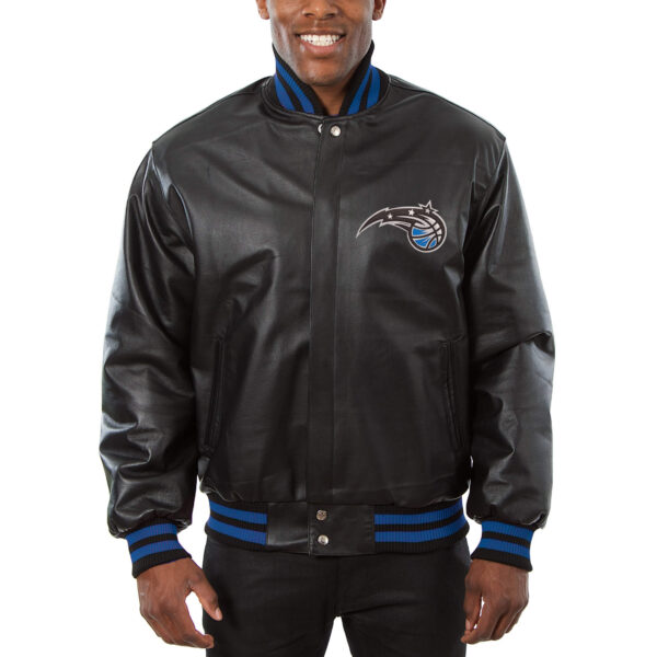 NBA Orlando Magic Black Leather Jacket