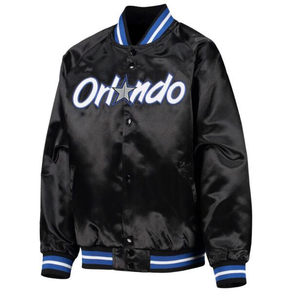 NBA Orlando Magic Black Satin Full Snap Jacket