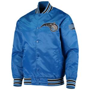 NBA Orlando Magic Blue Full Snap Satin Jacket