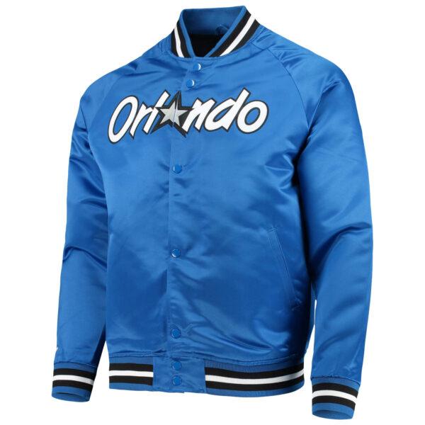 NBA Orlando Magic Blue Satin Full Snap Jacket
