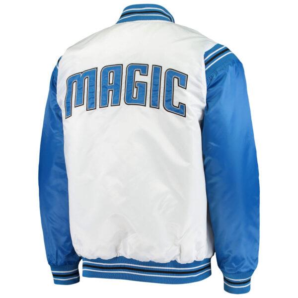 NBA Orlando Magic Blue White Satin Full Snap Jacket