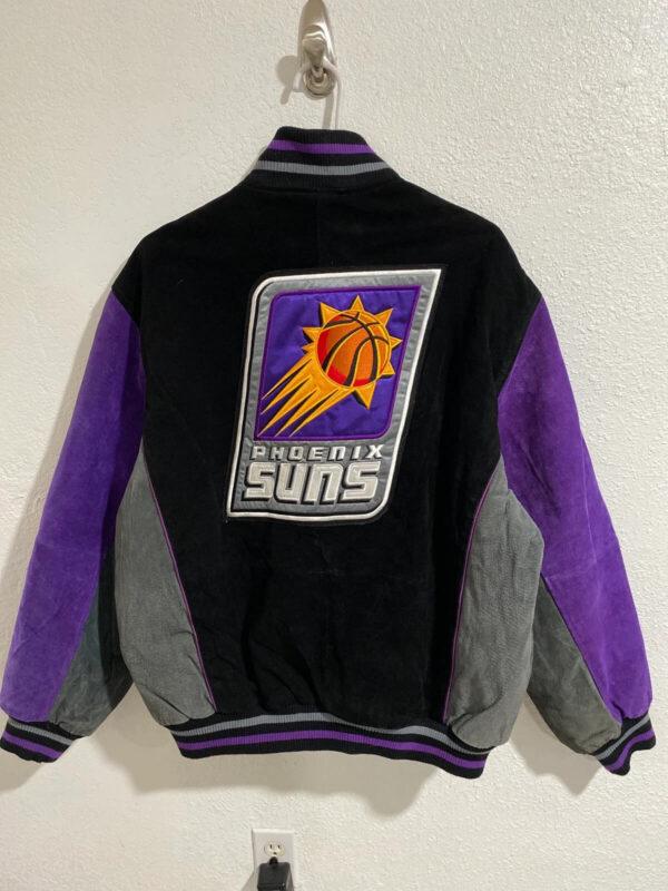 NBA Phoenix Suns Black Suede Jacket