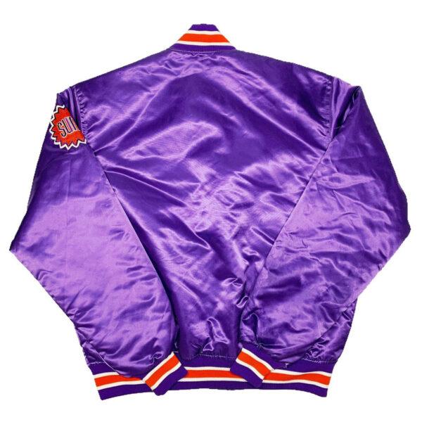 NBA Phoenix Suns Purple Satin Jacket