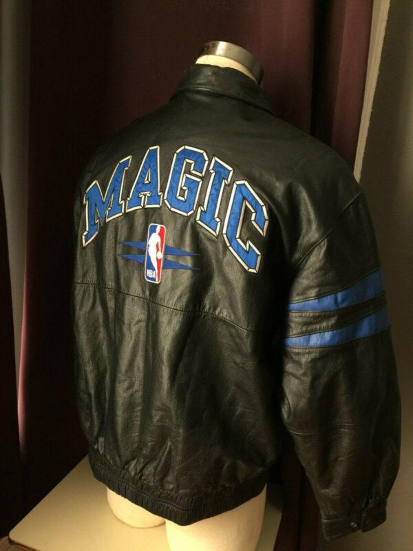 NBA Vintage Orlando Magic Black Leather Jacket