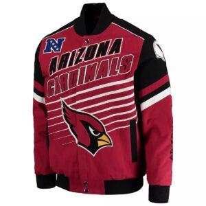 NFL Arizona Cardinals Red Black Bomber Jacket