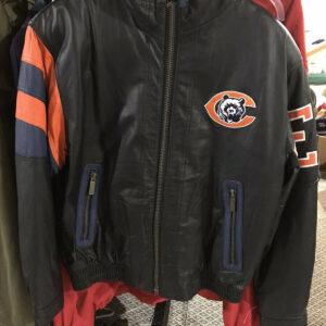 NFL Chicago Bears Big Logo Leather Jacket