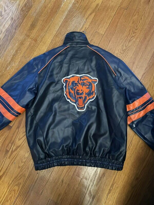 NFL Chicago Bears Embroidered Leather Jacket
