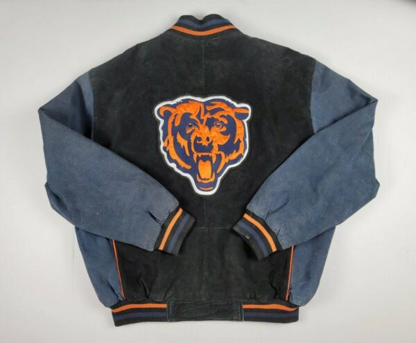 NFL Chicago Bears Suede Leather Jacket