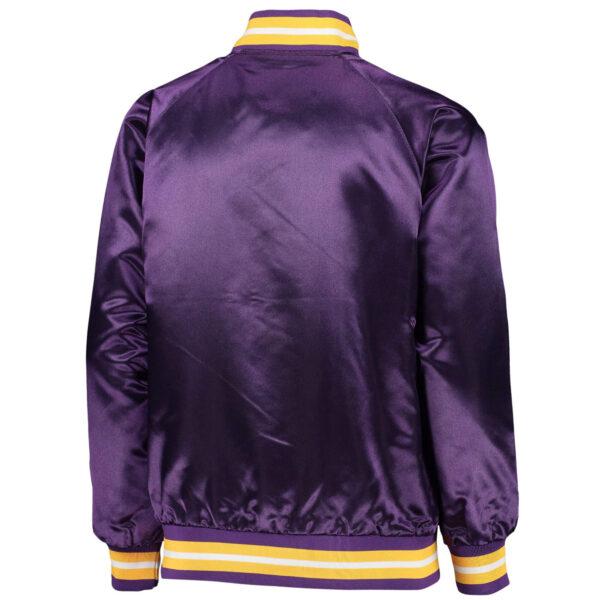 NFL Jeff Hamilton Minnesota Vikings Purple Satin Jacket