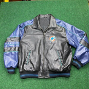 NFL Miami Dolphins Carl Banks G III Leather Jacket