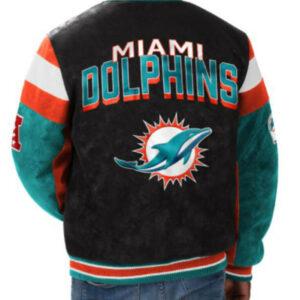 NFL Miami Dolphins Suede Varsity Jacket