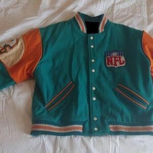 NFL Miami Dolphins Vintage Retro Varsity Jacket