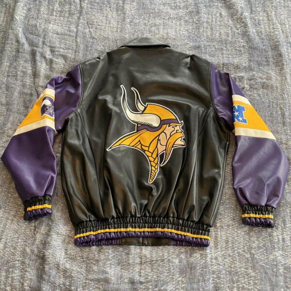 NFL Minnesota Vikings Black Leather Jacket
