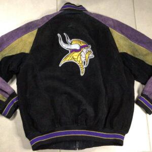 NFL Minnesota Vikings Black Varsity Jacket