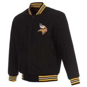 NFL Minnesota Vikings Black Wool Jacket