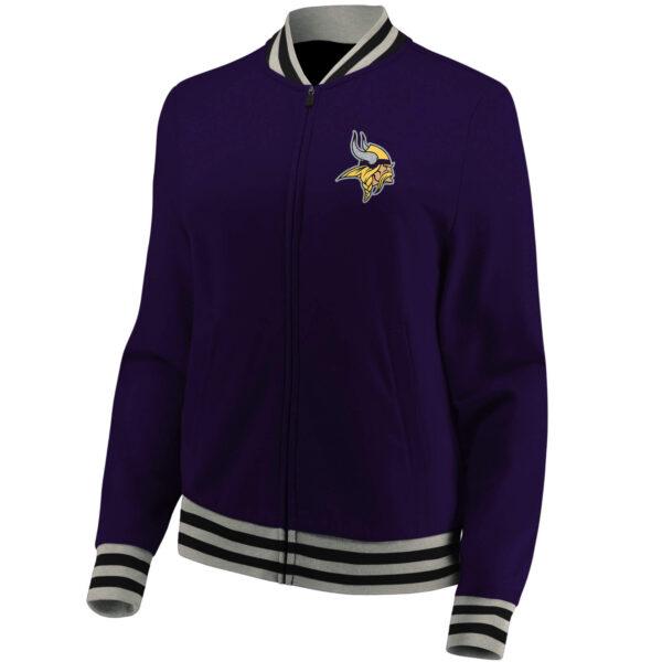 NFL Minnesota Vikings Purple Wool Jacket