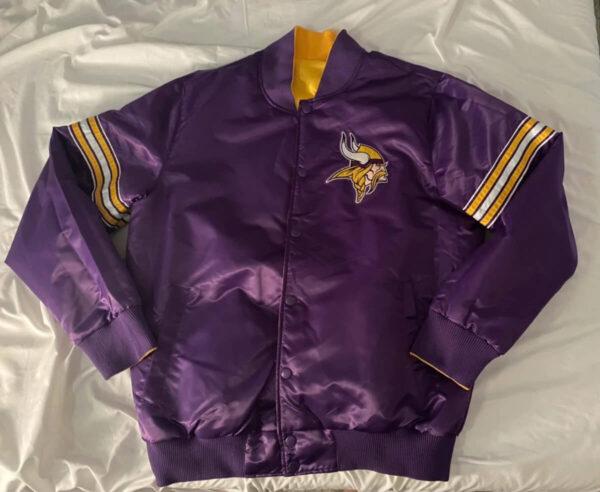 NFL Minnesota Vikings Reversible Satin Jacket