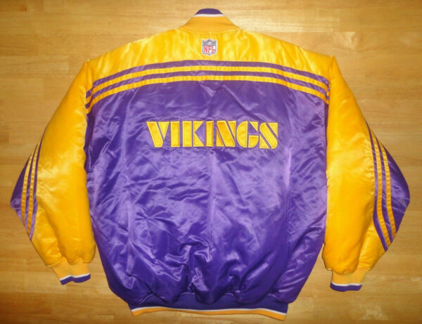 NFL Purple Yellow Minnesota Vikings Satin Jacket